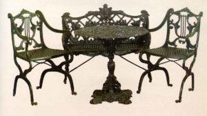 Набор мебели чугун. кресла 700х450х550 33кг. 12 900р.