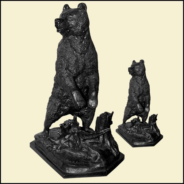 Медведь у пня   Н. Либерих XIX в.   570х380х380, 290х170х130