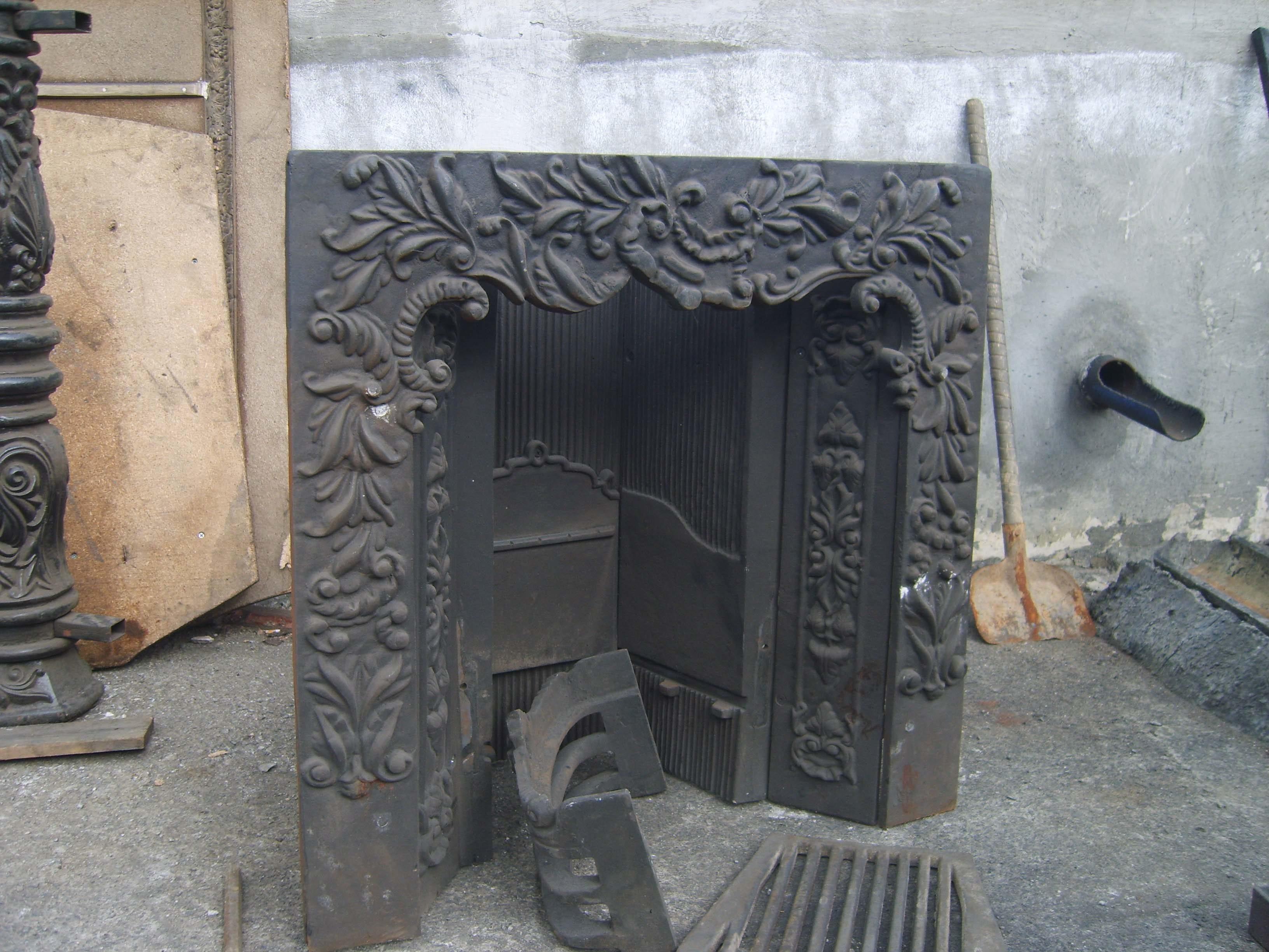 Камин №2 на заводе после литья