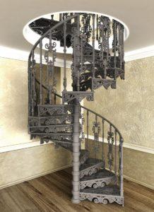 Лестница чугунная